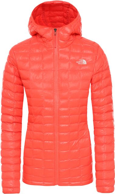 The North Face Eco ThermoBall Veste à capuche Femme, radiant orange